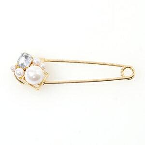 ★ パールクリスタル ブローチ Pearl Crystal Brooch 【Liala】【日本製】