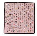 【メール便対応】ハンカチ 絵心経 和雑貨 ピンク 和柄 プレゼント プチギフト
