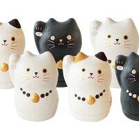 招き猫 置物 かわいい おしゃれ 小物入れ プレゼント 美濃和紙 たて型 【大サイズ】 縁起物 開運 千客万来 商売繁盛 和紙貼り陶器人形 和小物 日本製 まねきねこ 三毛猫/白猫/黒猫 石川紙業 Mino Maneki Minowashi