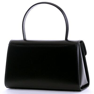 お受験バッグ【aurora】本革ブラックフォーマルバッグ