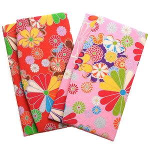 レビュー書くなら【メール便送料無料】花柄デザインちりめんふくさ(袱紗)日本製