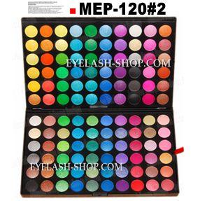Professional eyeshadow palette, makeup palette, eyes palette 120 colors MEP-120 # 02 (eye shadow)