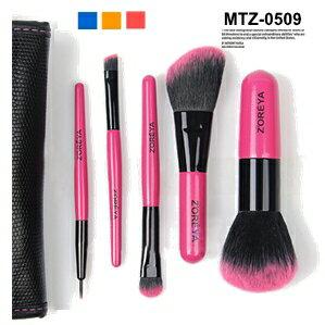 メイクブラシセット/化粧筆/タクロン化粧ブラシセット/ブラシケース付き5