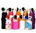 メイクブラシセット、化粧ブラシセットお洒落な専用収納ケース付き12本セットSTZ-1218【RCP1209mara】