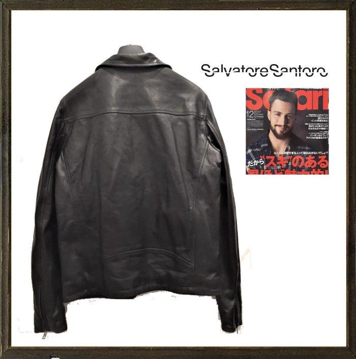 Salvatore Santoro【 サルバトーレ・サントロ 】BIKER Leather Jacketライダース ZIP レザー ジャケット バイカー ヴィンテージcolor:【 BLACK 】ブラック・アスファルト