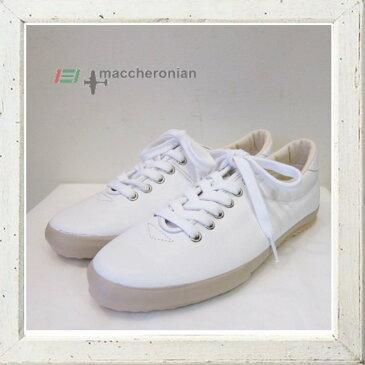 MACCHERONIAN 【マカロニアン】LADYS LO[0039L-17SS1]スムースカーフレザースニーカーバルカナイズド,ヴァルカナイズドcolor : 【WHITE】ホワイト