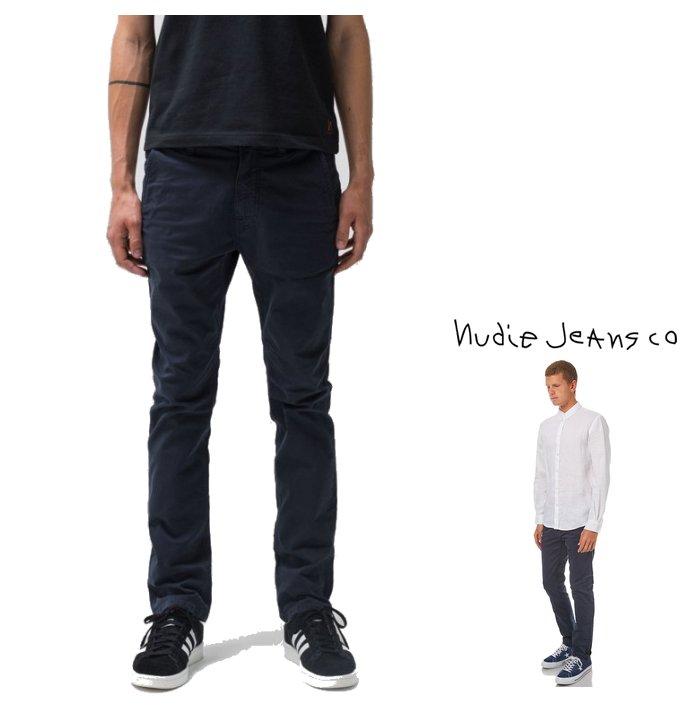 メンズファッション, ズボン・パンツ Nudie Jeans SLIM ADAM ORGANIC COTTON WASHED TWILLZIP FLY32colorN204 black
