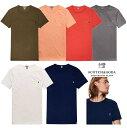 SCOTCH&SODA【 スコッチソーダ 】CREW-Neck T-Shirtクルー・ポケット・無地Tシャツcolor:【 INDIGO 】インディゴブルーcolor:【 MILYTLY GREEN】ミリタリーグリーンcolor:【 DENIM WHITE 】デニムホワイト