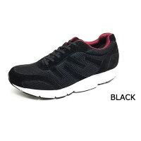 【送料無料あす楽】MIDFOOTミッドフットウォーキングシューズ スニーカー靴くつシューズレディース婦人女性クッション歩きやすい疲れにくい幅広柔らかい通勤カジュアルシューズ黒ブラックミッドフット歩行