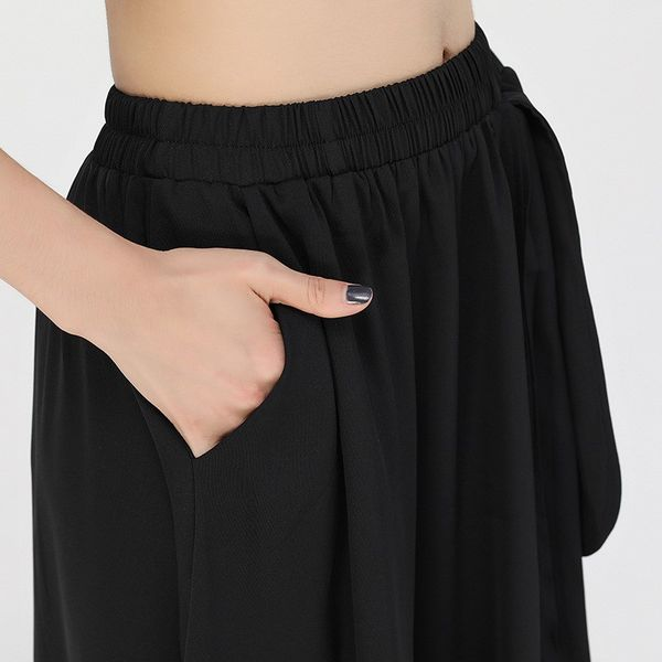 【orubiaオルビア】スカートプリーツアシンメトリーサイドポケットフレア