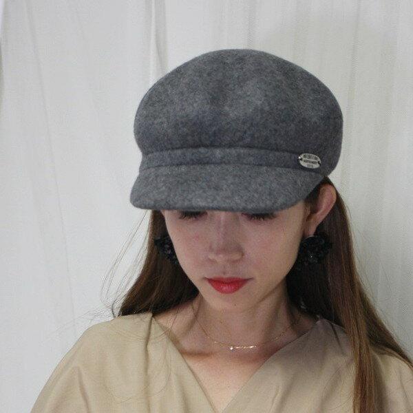 【orubiaオルビア】キャスケットハットマリン帽マリンハットウールプレート