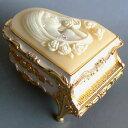 ピアノ型カメオ付き宝石箱(女性) ベージュ ♪カノン アンチモニーオルゴール プレゼント