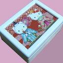 蓋ガラス宝石箱オルゴール キティのひなまつり 初節句 ♪ ≪18弁曲目選択オルゴール≫曲目多数