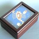 ★300曲から選択★誕生日の星座/小物入れオルゴール(蓋ガラス)宝石箱  ♪300曲から 誕生日...