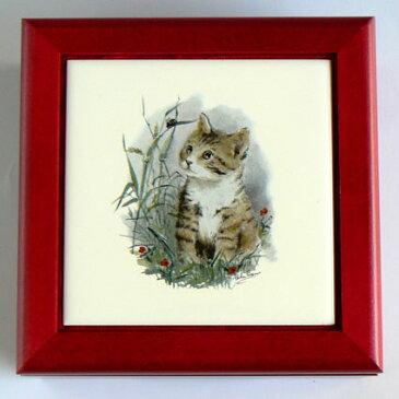 333曲以上から選べる! タイル宝石箱オルゴール 子猫 ≪18弁曲目選択オルゴール≫ 【クリスマス オルゴール 誕生日】 プレゼント