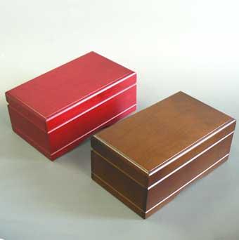333曲以上から選べる! 宝石箱オルゴール 中 (2色 赤・茶) 【18弁曲目選択オルゴール】 プレゼント
