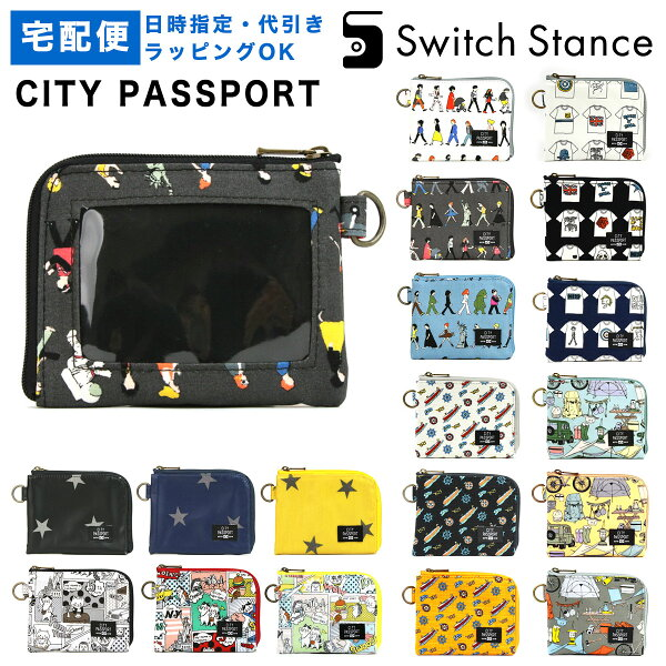 CITYPASSPORTミニ財布L字ファスナー星柄猫メンズデザイン極薄財布パスケース付き日本製レディース 専用商品 シティパスポ