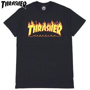 スラッシャー THRASHER FLAME LOGO.TEE(ブラック 黒 BLACK YELLOW)スラッシャーTシャツ THRASHERTシャツ スラッシャー半袖 THRASHER半袖 スラッシャーフレイムロゴ THRASHERフレイムロゴ FLAMELOGO