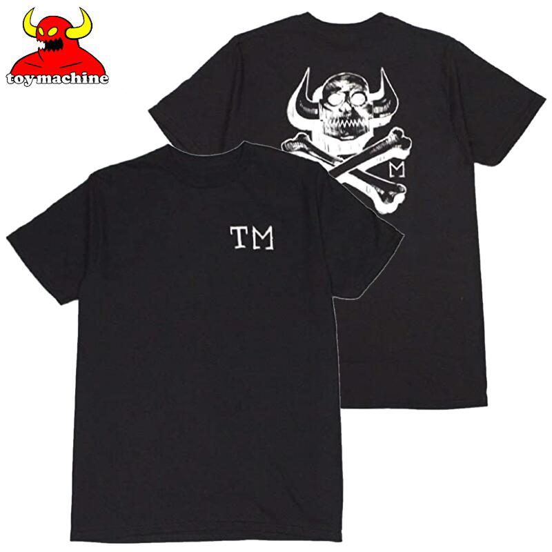 トップス, Tシャツ・カットソー US TOY MACHINE TOY MACHINE SKULL x BONES TEE( BLACK)TOY MACHINET T TOY MACHINE TOYMACHINE