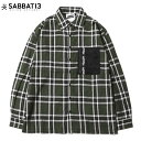 サバトサーティーン SABBAT13 BLACK HEART CHECK SHIRTS(グリーン 緑 GREEN)サバトサーティーンチェックシャツ SABBAT13チェックシャツ サバトサーティーン長袖 シャツ SABBAT13長袖シャツ