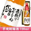 メッセージボトルいも焼酎梅酒720ml
