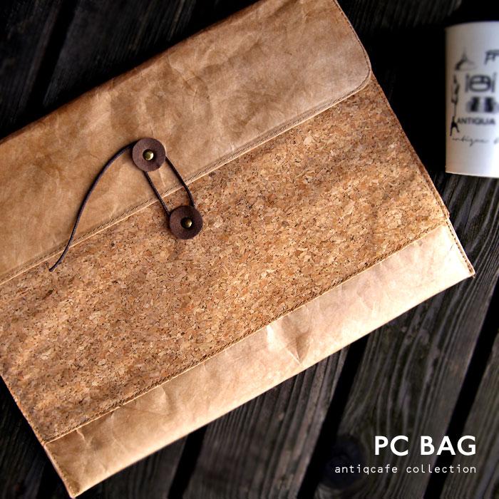 [タイベック]細部までこだわりが光るPCバッグ 玉紐 軽量 耐水 買い物 お出かけ 通勤鞄 通学かばん コンパクトアンティカフェ goods iPad タブレット PC ノートパソコン ケース 小物入