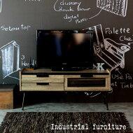 【送料無料】テレビボードアンティーク調古材風エージング加工オシャレ家具木目ヴィンテージレトロ