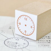 スケジュール時計のはんこ:直径20mm:1周24時間:12時始まり[1336014]