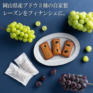 岡山産・高級ぶどう 3種の フィナンシェ (5個入り)