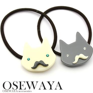 猫にヒゲという組み合わせが以外でカワイイポニーシンプル ヘアゴム ヘアアクセサリー ヘアアレ...