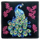 【クリアランスセール】フェイラー ハンカチ Peacock-010 Black【30×30】【メール便送料無料】(TKD) FEILER【C価】(6038709)