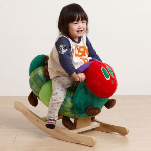 「はらぺこあおむし」 あおむしロッキング ERIC CARLE(エリックカール) 【Nihonikuji/日本育児/おもちゃ/乗用玩具】 【沖縄・離島は対象外】※他商品との同梱不可【あす楽対応_関東】 (6010673)