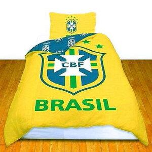 ファンは大喜び/ブラジル CBF【サッカー ブラジル代表】ブラジリアン イエロー/掛け布団カバー & 枕カバー/あの 高揚感を もう一度/今夜も よく 眠れそう/ブラジル 大好きな人へ/リバーシブル