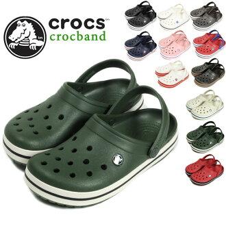 男裝 Crocs 涼鞋時鐘樂隊 /crocs crocband 男裝黑色卡其色泡泡糖木炭 / 海洋凱利綠色 / 黑色天藍色藍和胡椒陽光 / 藍鈴花超級銷售