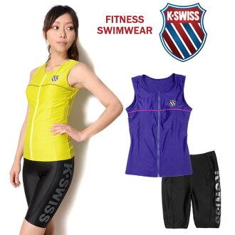 大尺寸是 K.SWISS 瑞士健身泳裝兩集的女士 35450434 無袖郵編郵編郵編 tankini 斯派茨差異單獨分離游泳紫色黃色黑色 7S 9 米 11 L 13 L 10 P 28 Sep16 10P01Oct16
