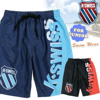 孩子們和初級品牌泳裝 K.SWISS 為男孩衝浪褲瑞士泳裝海面包水褲兒童孩子男孩男孩短褲黑色海軍 130 140 150 160 10P05Nov16