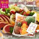 母の日 フルーツ ギフト 詰め合わせ 送料無料 旬果 4種 ギフトセット優美(ゆうび) 国産 果物 プレゼント フルーツギフト 健康ギフト フルーツ詰め合せ 盛り合わせ 大嶌屋(おおしまや)・・・
