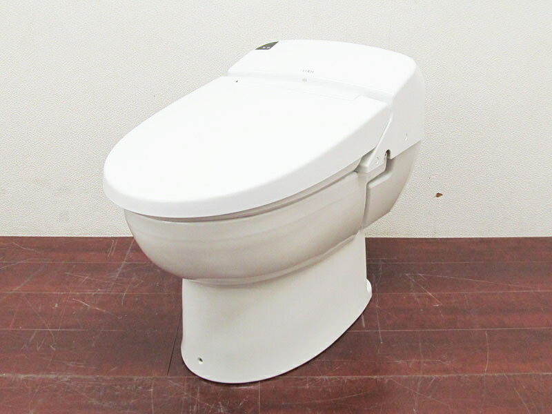 【新古品】 LIXIL シャワートイレ一体型タンクレス便器 床排水 ベーシアハーモ Dグレード BC-D11MS / DV-D113AM ピュアホワイト 15年製 【Q0703-01】:お新古市場