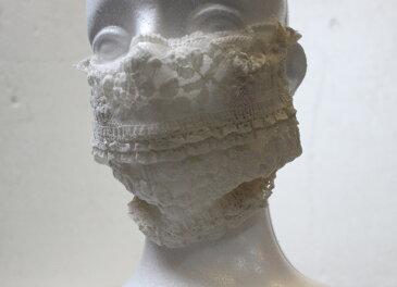 ふわふわレースのマスクカバー