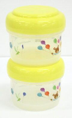 ミールタイムベビーランチボックスBR-9(2個セット)スタッキングできる保存容器食器洗浄機対応(ベビー・子供用品)