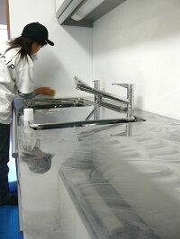 【お掃除洗剤はKis!】【1.手を汚さず2.塗りムラ無く3.少量で済む♪】水回りコーティング剤専用3層構造高級ウレタンスポンジ車の撥水コーティングにも使えます♪