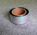 ホログラムメッキテープ シルバー チアポンポン材料ハロウィー...