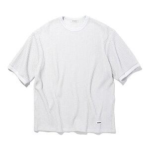 RADIALL (ラディアル) BIG WAFFLE CREW NECK T-SHIRT S/S ワッフルTシャツ カットソー Tシャツ ワッフル 生地 メンズ ブランド 厚手 ストリート 白 ホワイト 半袖 袖 長め M L XL 大きいサイズ ゆったり オーバーサイズ 日本製 【送料無料】 【あす楽対応】
