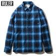【お取り寄せ / ご注文後5〜10日でお届け】 RULER (ルーラー) FLANNEL CHECK SHIRTSルーラー シャツ 前立てなし シャツ ネルシャツ チェックシャツ ストリート M / L / XL / XXL 大きいサイズ