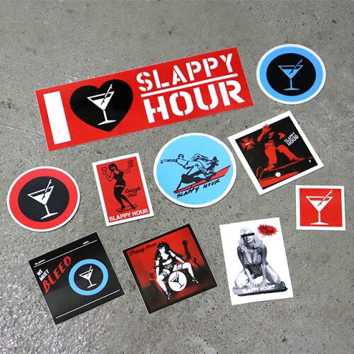I stay, and there is a few it! SLAPPY HOUR (スラッピーアワー) Slappy Hour Sticker  Pack sticker ten pieces set