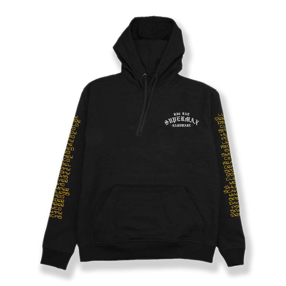 トップス, パーカー 213() XL SUPERMAX HARDWARE () Sponsorship Black Hoodie 14oz L XL XXL