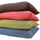 つむぎ調頚椎安定型そば枕四季彩35x50cm栗色/低い低め硬め固めかため昼寝畳和風横向きうつぶせ安い快眠肩こりいびきストレートネック