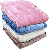 衿元ふっくらボリューム毛布シングル140x200cm/無地冬あったかあたたかもこもこふわふわもふもふふかふか