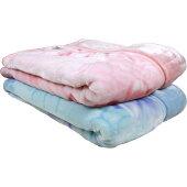 京都西川マイヤー合わせ毛布あったかソフトタッチラインマーガレットシングル140x200cm/厚手冬あったかあたたかもこもこふわふわもふもふふかふか