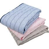 吸汗・速乾パイル敷きパッドシングル100x200cm洗濯可能ブルー/丸洗い洗えるタオル地おすすめ敷きパットベットパッドパット